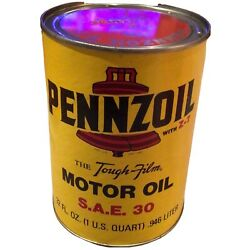Vintage Pennzoil The Tough-film Motor Oil Can Unopened Sae 30