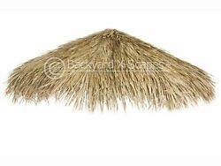 7and039 Round Palapa Natural Mexican Thatch Tiki Umbrella Cover Commercial Grade