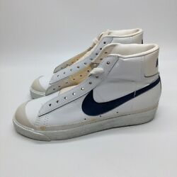 Nike Volcano High Top White Blue Size 7 830810 1983