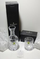 New Waterford Crystal Lismore Bedside Carafe And Tumbler Set New In Box
