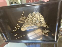 Couroc 1960and039s Mid Century Modern Black Resin Bar Tray Pittsburgh