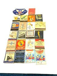 Vintage Matchbook Cover Lot Mobil Shell Pin Up Boxing Esso Victory Bonds Gas Oil