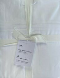 Pottery Barn Ultra Fine 700 Thread Count Sheet Set King White Nwt