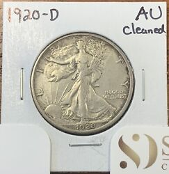 1920-d Walking Liberty Half Dollar About Uncirculated Au