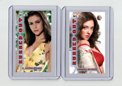 Amanda Seyfried Rare Mh Rubbed Out 'd 1/3 Tobacco Card No. 39