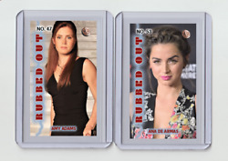 Amy Adams Rare Mh Rubbed Out 'd 1/3 Tobacco Card No. 47