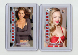 Amanda Seyfried Rare Mh Rubbed Out 'd 1/3 Tobacco Card No. 40