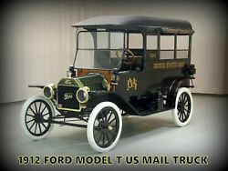 1913 Ford Motor Car New Metal Sign Usps Us Mail Truck - Fully Restored