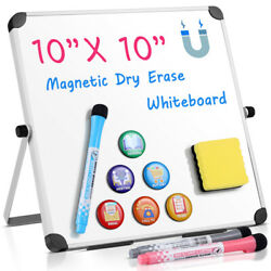 Magnetic Whiteboard 10 X 10 Inch Dry Erase Board Wall Hanging Stand Board A-type