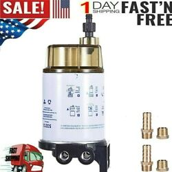 """3/8""""npt Fuel Filter / Water Separator System S3213 For Marine Outboard Motor Us"""