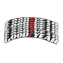 Tire Lettb-`0ers Goodyear Permanent Sticker 1.25'' 15''-24'' 8 Pcs Decal Pack