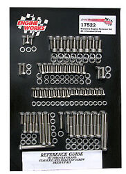 Ford Cleveland 351c Stainless Steel Hex Engine Fastener Kit