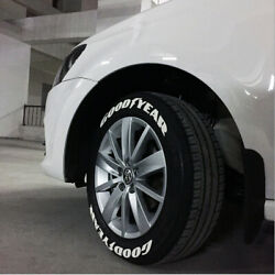Goodyear Tire Lettering Sticker 1.38 For 15-24 White Letters Decal 8 Kits