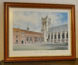 Michael John Ewins Signed Limited Ed. Print 197/525 First Court St Johns College