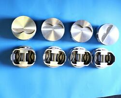 Forged Flat Pistons 383ci Small Block Chevy Flat Top 3.7cc 2v 5.7rod Set Of 8