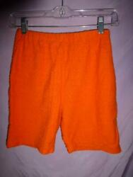 Vtg White Stag Young Casual Orange High Waist Terrycloth Beach Surfer 60s Shorts