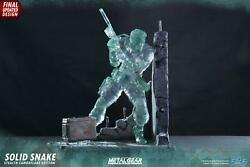 Statue Metal Engrenage Solid Snake 44 Cm Stealth Camouflage Signature Andeacutedition 1