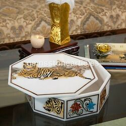 Marble White Handmade Collectable Jewelry Vintage Box Tiger Unique Art Gift Deco