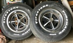 Vintage 69-71 Chevelle Ss Rims, Tire, Center Cap And Wheel Rim And Retainer