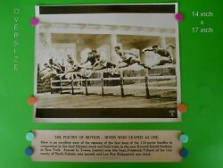 1936 Olympic Track And Field Trials - 14 X 17 B And W Dispatch News Photo And Banner