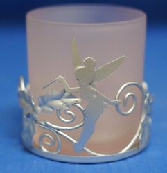 Tinker Bell Votive Candle Holder Glass And Metal Figurine Disney