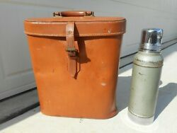 Antique Stanley Thermos With Leather Carrying Case
