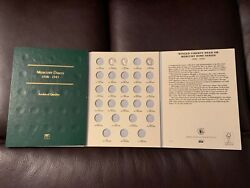 Coin Folder With Mercury Dime Collection Low Dates Book Album 1917 1919d 1928s +