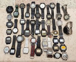 Vintage Casio Quartz Watches -lot Of 40 Watches - Sold As Is
