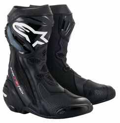 New Alpinestars Supertech R Black Racing And Sport Motorcycle Boots - Black 2021