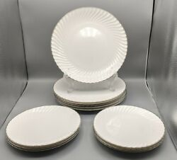Royal Worcester China Engagement 6 Dinner Plates And 6 Salad Plates Euc