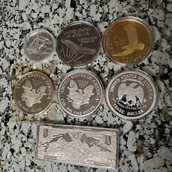 63+oz .999 Fine Silver Round Bullion - 1776 Grams - Gold And Platinum Coated Too
