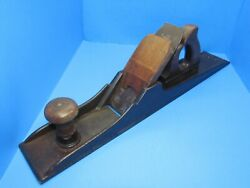 A Real Knowles 1827 Patent Cast Iron And Wood Jointer Plane From Colchester Conn