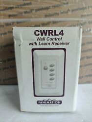 Fanimation Cwrl4wh Wall Control Fan And Light With Learn Rec 3-speed/non-rev