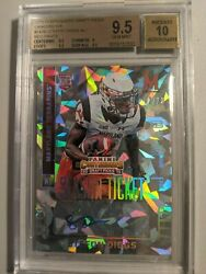 2015 Panini Contenders Cracked Ice 143b Stefon Diggs Auto 2/23 Bgs 9.5