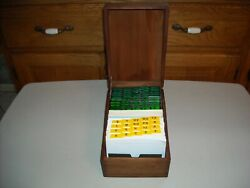 Vintage Wood Hill Company Dovetailed Hinged Lid Index Card / Recipe File Box