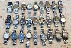Vintage Seiko Automatic Watch - Lot Of 28 Watch - Sold As Is