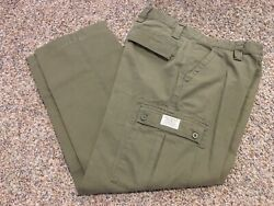 Men's Size 35x32 Eddie Bauer Authentic Outdoor Outfitter Khaki Cargo Pants Green