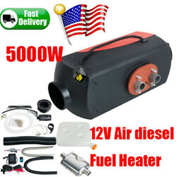 12v 5000w Air Diesel Heater Fuel 5kw For Vehicle Truck Bus Boat Car 12l Tank