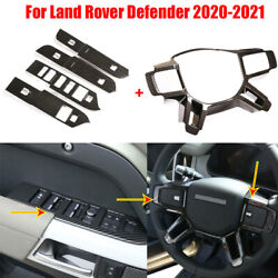 Steering Wheel Cover+window Lift Switch Trims For Land Rover Defender 2020-2021