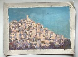 French Postimpressionism Landscape Village Of Lacoste In The Vaucluse In France