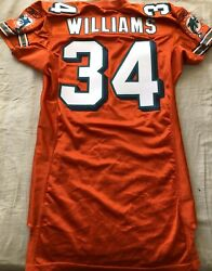 Ricky Williams Miami Dolphins 2010 Authentic Reebok Team Issued Orange 34 Jersey