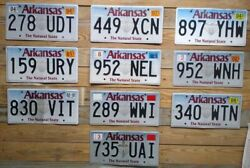 Arkansas Expired Lot Of 10 Craft Grade License Plates Auto Tags 278 Udt