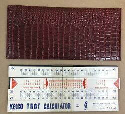 1969 Kelco Trot Calculator Horse Racing Slide Rule Handicapping With Case