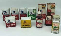 Vintage 1970s Lot Of Mccormick's Spice Tins And Bottles Advertising