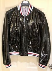 Thom Browne Black Patent Leather Mens Jacket Size 38 Nwt Paid 4000