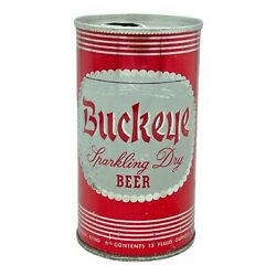 Buckeye Sparkling Dry Beer Can Toledo Ohio Red Can 12 Oz Pull Tab Brewing Co.