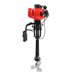 2 Stroke 3.6hp Outboard Motor Electric Start Boat Engine With Air Cooling System