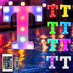 16 Color Changing Marquee Letter Lightlight Up Colorful 26 Alphabet Signs � � �