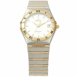 Omega Constellation 34mm Watch 396.1201 Msrp 4500 18kt And Stainless Steel