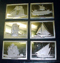 61500 Grain Silver Ingots F.m.sterling 19.6 Troy Ozs Sailing Ships Of The World